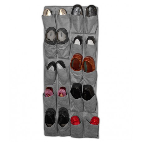 Organizador de zapatos de pared 20 huecos peva gris jocca shop - Organizador de zapatos ...