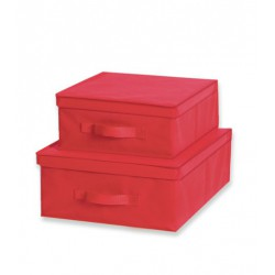 Caja almacenaje TNT Rojo 33x40x18 cm.