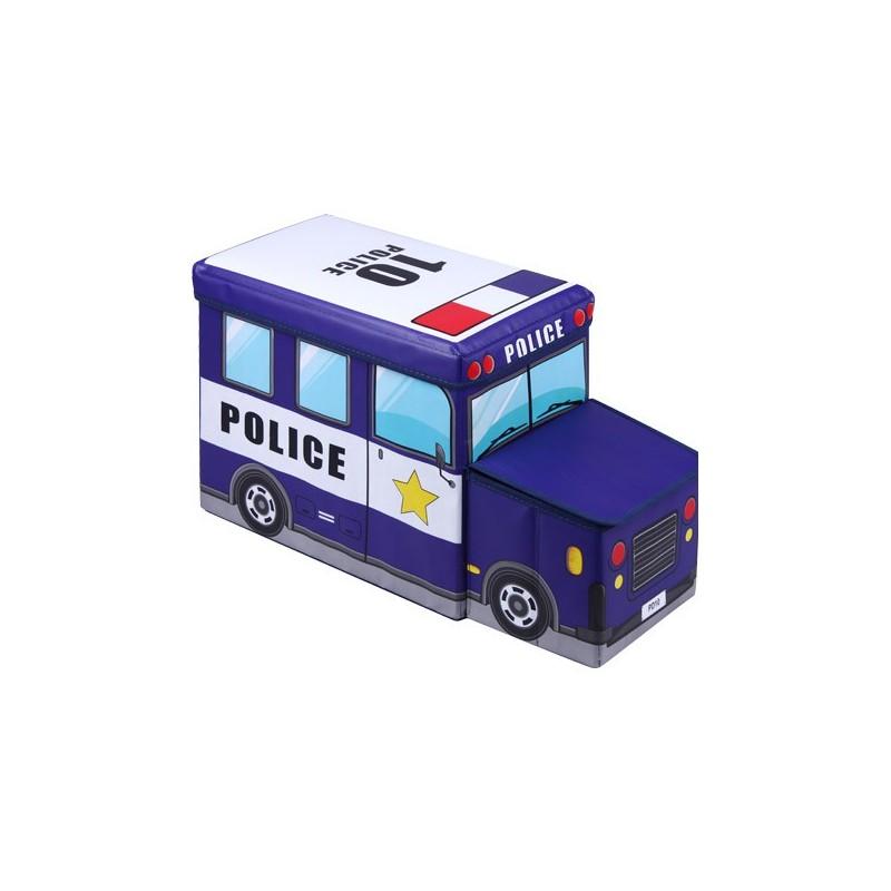 PUFF INFANTIL COCHE POLICIA