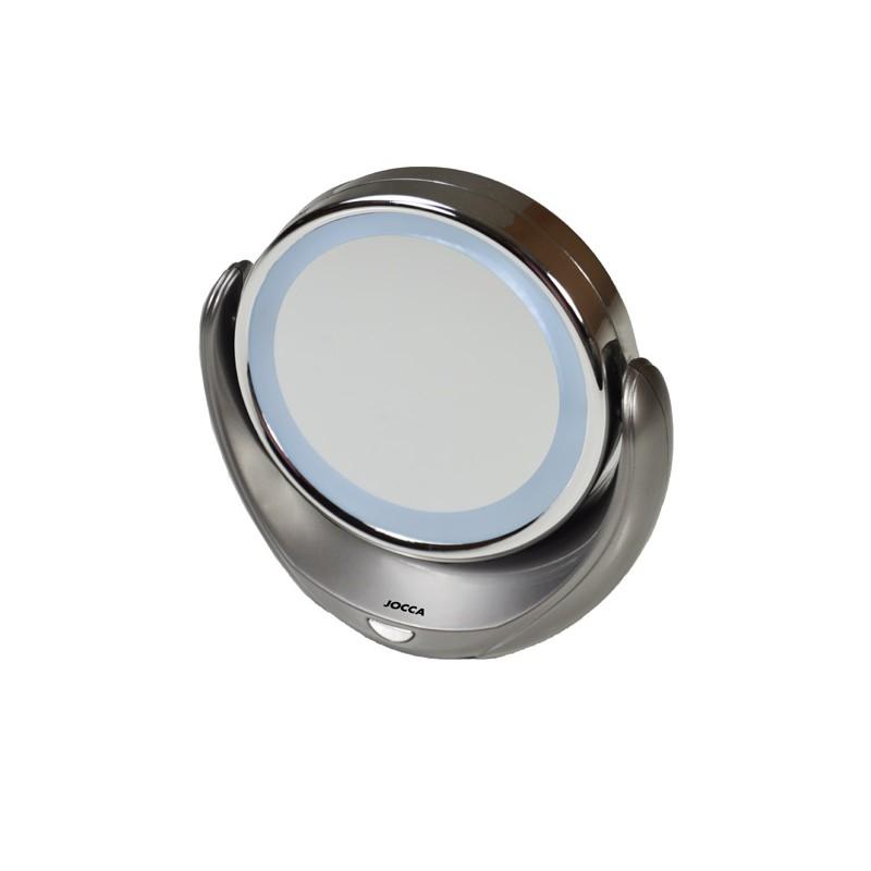Espejos de aumento con luz led espejos de maquillaje for Espejo aumento con luz