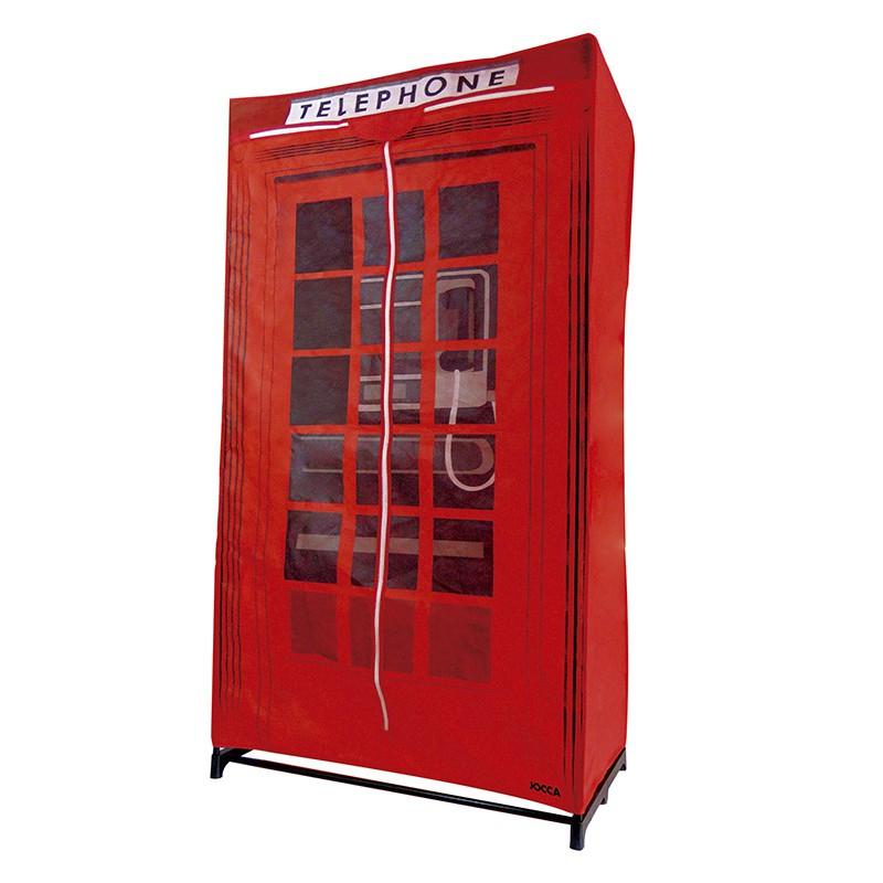 Armario ropero dise o cabina telef nica - Armarios de tela ...