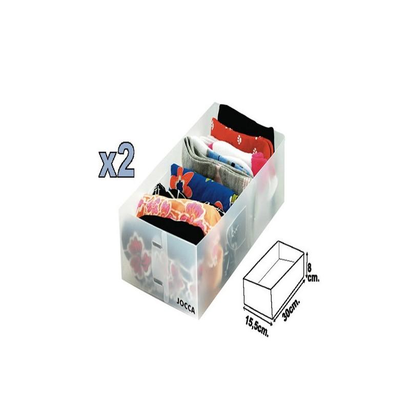 Organizadores de cajones jocca set de dos unidades for Organizador cajones bano