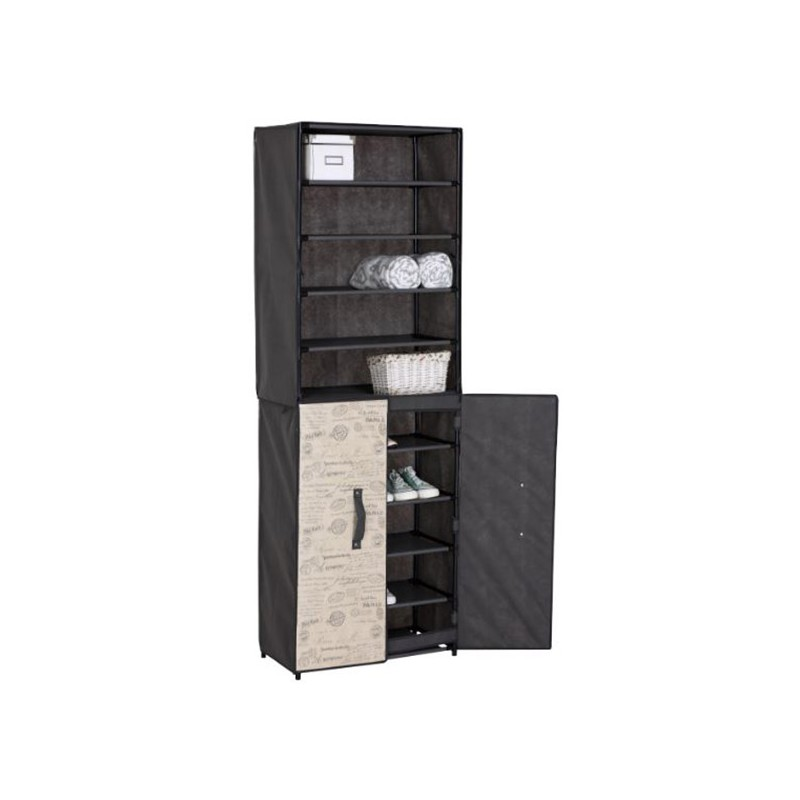placard pour chaussures avec porte en tissu jocca shop. Black Bedroom Furniture Sets. Home Design Ideas