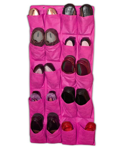 OVER DOOR PINK SHOE ORGANIZER
