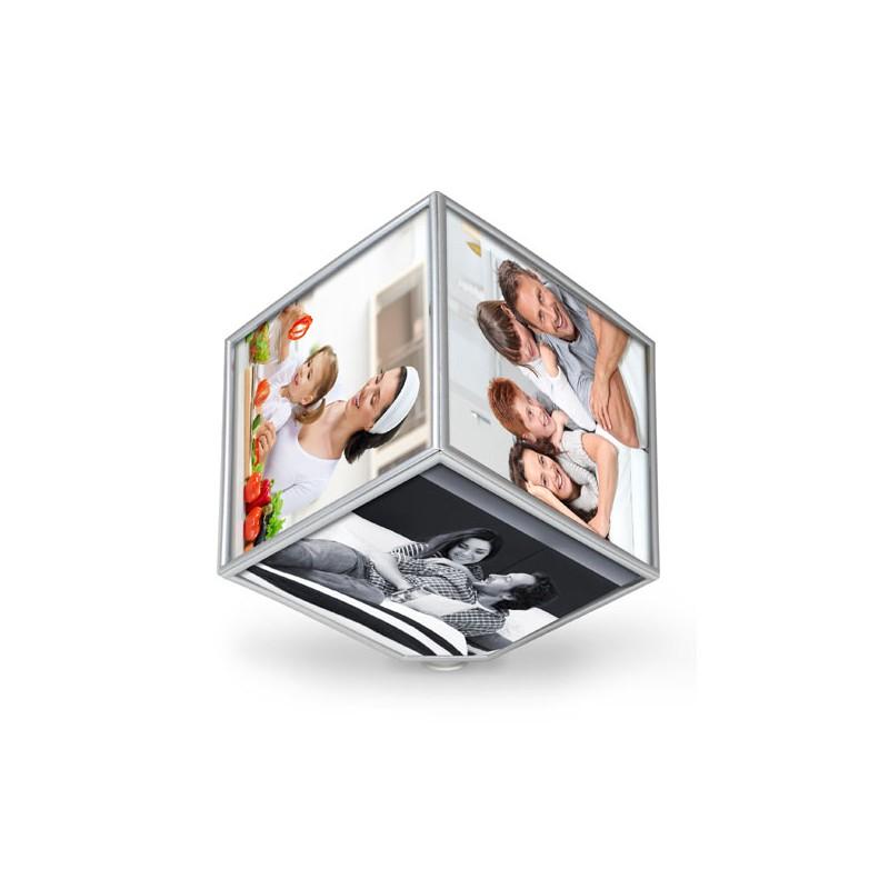 Marco de fotos cubo giratorio