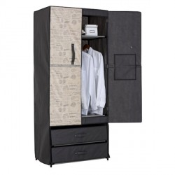 CLOTHING CABINET WITH DRAWERS AND RIGID DOOR