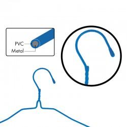 SET DE 6 PERCHAS METALICAS CON PVC AZULES