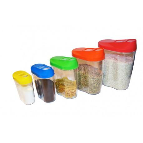 Galletas Bote de Cocina Vintage 650 mL Space Home Cereales Tarro de Vidrio Retro con Tapa de Acero Inoxidable Frasco para Conservas