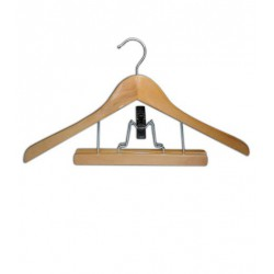 WOODEN HANGER WITH CLIP