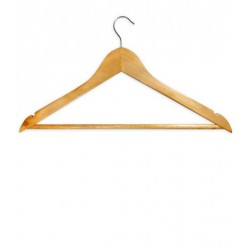 WOODEN HANGERS (6 pieces)