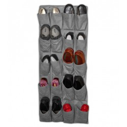 OVER DOOR GREY SHOE ORGANIZER