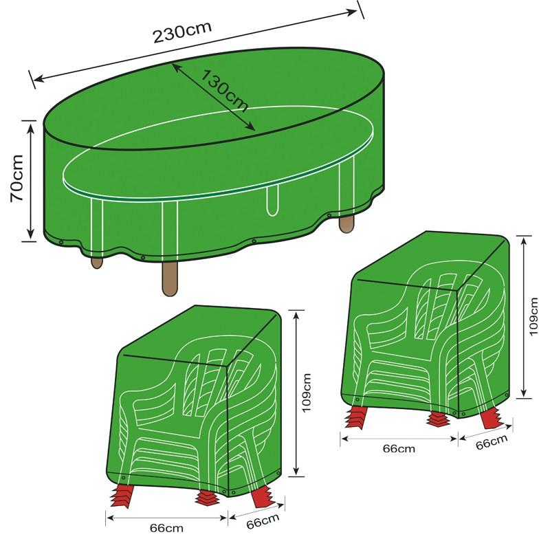 Fundas protectoras para muebles de jard n sillas y mesa - Fundas muebles jardin ...
