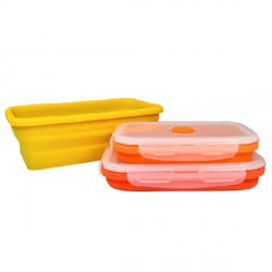 3 FOLDABLE SILICONE CONTAINERS