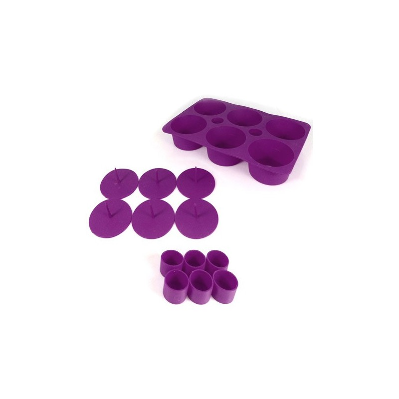 SILICONE MOULD FOR CUPCAKES WITH FILLING, PURPLE