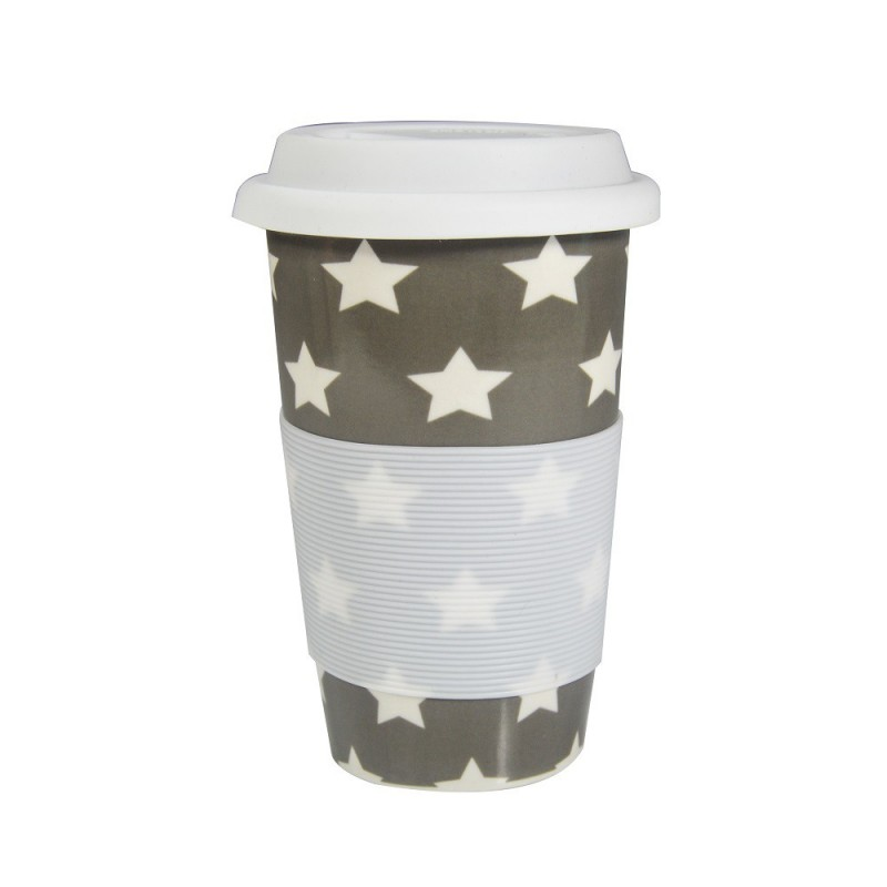 CERAMIC SILICONE DOUBLE WALLED CUP
