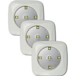 SET DE 3 FOCOS LED CON CONTROL REMOTO