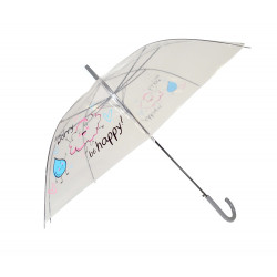 """DON'T WORRY BE HAPPY!"" - TRANSPARENT UMBRELLA"