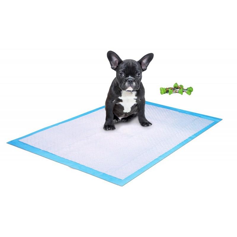 Empapador para mascota y hueso de goma para perro